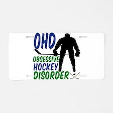 Hockey Humor Aluminum License Plate
