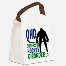Hockey Humor Canvas Lunch Bag