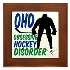 Hockey Humor Framed Tile