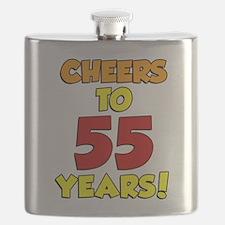 Cheers To 55 Years Drinkware Flask