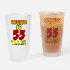 Cheers To 55 Years Drinkware Drinking Glass
