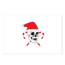Santa Skull with Christmas Hat Postcards (Package