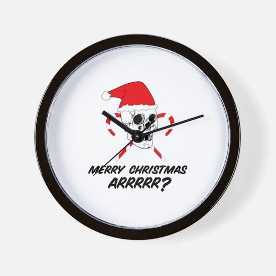 MERRY CHRISTMAS ARRRRR? Wall Clock
