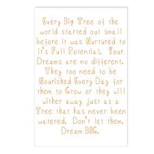 Nurture Your Dreams Postcards (Package of 8)