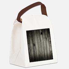 Dark Creepy Wood Panels Pattern Canvas Lunch Bag