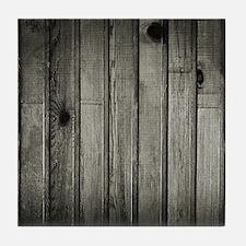 Dark Creepy Wood Panels Pattern Tile Coaster