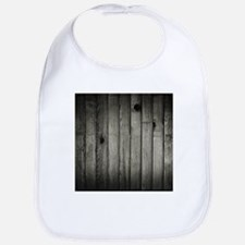 Dark Creepy Wood Panels Pattern Bib