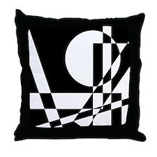 Squares And Circle Design #6 Throw Pillow