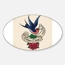carpe diem bluebird tattoo style Decal