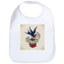carpe diem bluebird tattoo style Bib