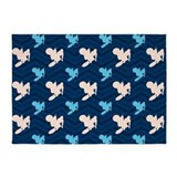 Light blue chevron 5x7 Rugs