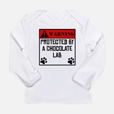 Protected By A Chocolate Lab Long Sleeve T-Shirt