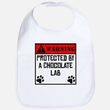Protected By A Chocolate Lab Bib