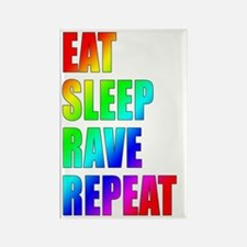 Eat, Sleep, Rave, Repeat Rectangle Magnet