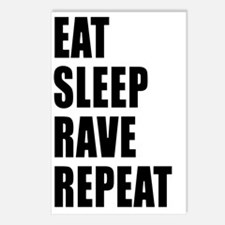 Eat Sleep Rave Repeat Postcards (Package of 8)