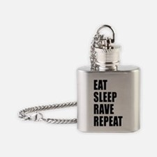 Eat Sleep Rave Repeat Flask Necklace