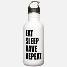 Eat Sleep Rave Repeat Water Bottle