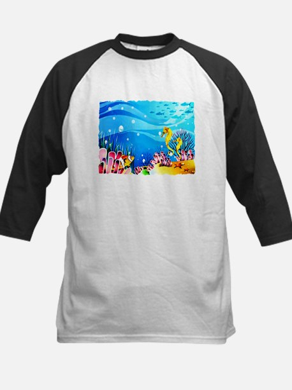 Undersea Coral, Fish Seahorses Baseball Jersey