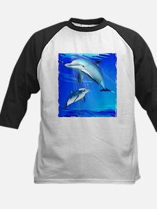 Mom Baby Dolphin Baseball Jersey