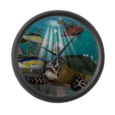 Turtle Large Wall Clock