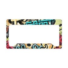 Graffiti Wall License Plate Holder