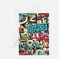 Graffiti Wall Greeting Cards