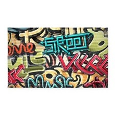 Graffiti Wall 3'x5' Area Rug