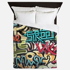 Graffiti Wall Queen Duvet