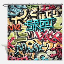 Graffiti Wall Shower Curtain