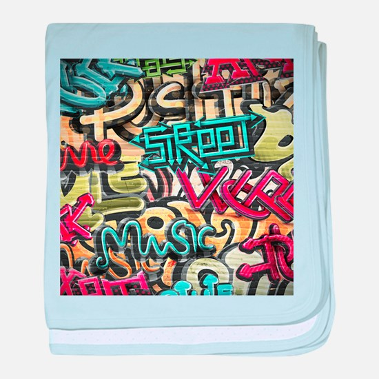 Graffiti Wall baby blanket