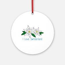 I Love Switzerland Ornament (Round)