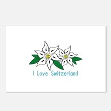 I Love Switzerland Postcards (Package of 8)
