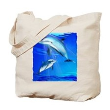 Mom Baby Dolphin Tote Bag