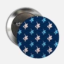 """Blue and Tan Chevron Skater 2.25"""" Button (10 pack)"""