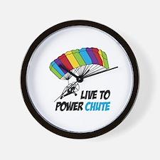 LIVE TO POWER CHUTE Wall Clock