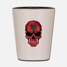 Albanian Flag Skull Shot Glass