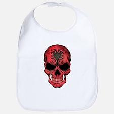 Albanian Flag Skull Bib