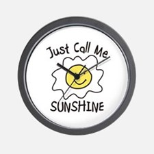 Just Call Me SUNSHINE Wall Clock