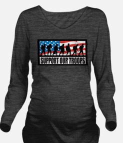 Support our troops - Infantry Long Sleeve Maternit