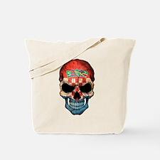 Croatian Flag Skull Tote Bag