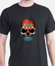 Croatian Flag Skull T-Shirt