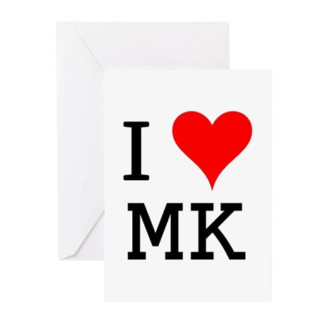 I Love MK Greeting Cards (Pk of 10)