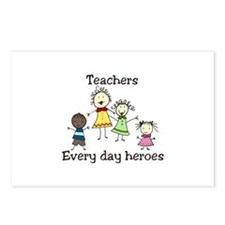 Teachers Every day heroes Postcards (Package of 8)