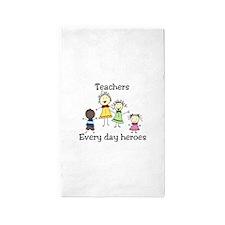 Teachers Every day heroes 3'x5' Area Rug
