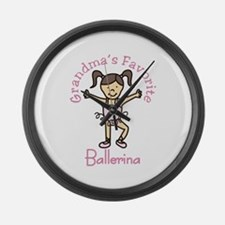 Grandmas Favorite Ballerina Large Wall Clock