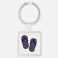 Beach Flip Flops Keychains