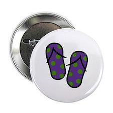 """Beach Flip Flops 2.25"""" Button"""