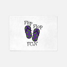 Flip Flop Fun 5'x7'Area Rug