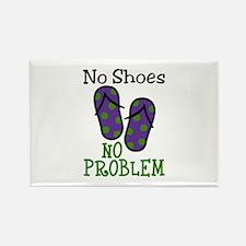 No Shoes No Problem Magnets