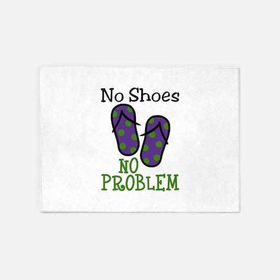 No Shoes No Problem 5'x7'Area Rug